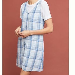 Anthropologie Cloth & Stone Plaid Buttondown Dress